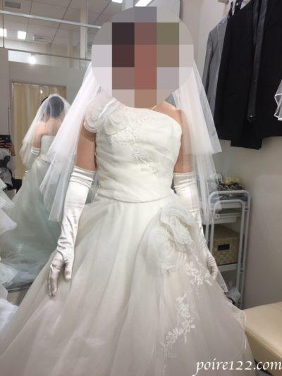 実際に着用したウェディングドレス
