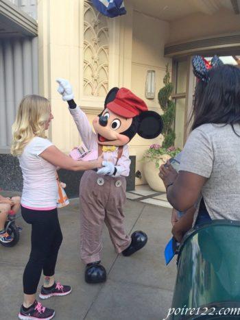 カリフォルニアディズニーにいたミッキーマウス