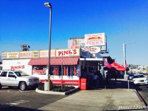 ロサンゼルスのハリウッドのPink's Hot Dogs
