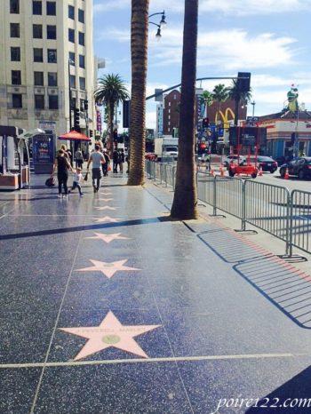 ロサンゼルスのハリウッドのウォークオブフェイム