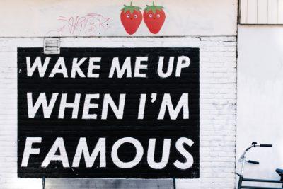 有名になったら起こして