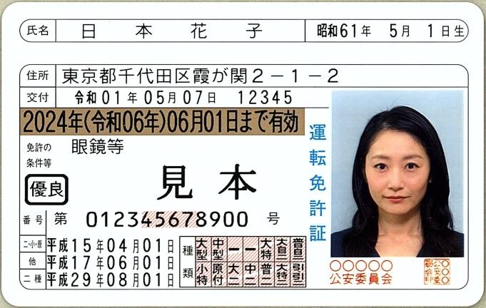初回免許更新の免許証交付