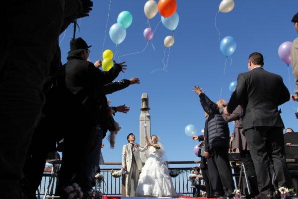 恋人岬で挙げる結婚式