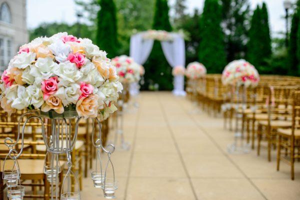 外での結婚式