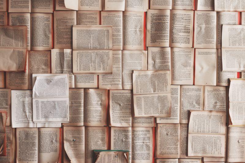 たくさんの本がずらり
